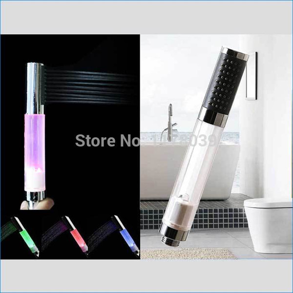 led color shower head,color changing led shower head,shower head handheld,baby special nozzle kit,Free Shipping J14218