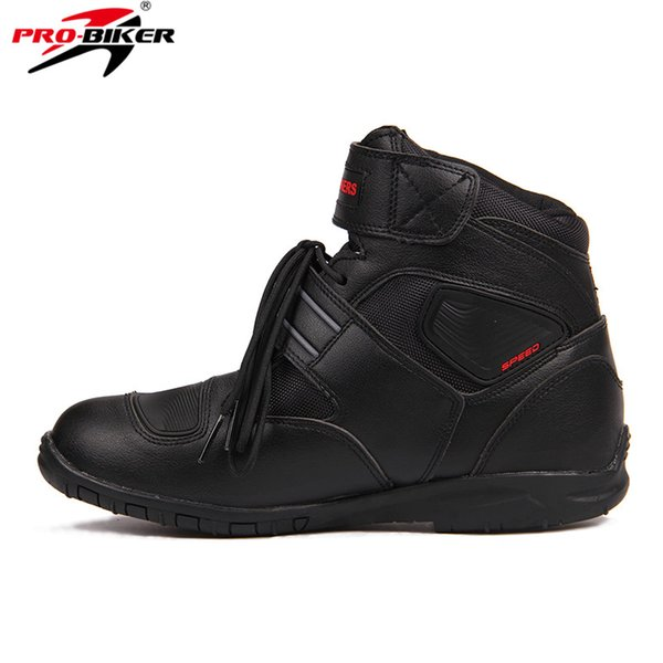 Deportes Botas de motociclista Riding Tribe SPEED BIKERS Cómodamente Moto Racing Boots Motocross Moto Shoes A005 Black / White / Red