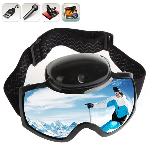 2017 Skiing Goggles Mask 720P HD 1080P Camera Video Camcorder UV Anti-fog Men Women Snowboard Glasses Action Camera Ski Eyewear