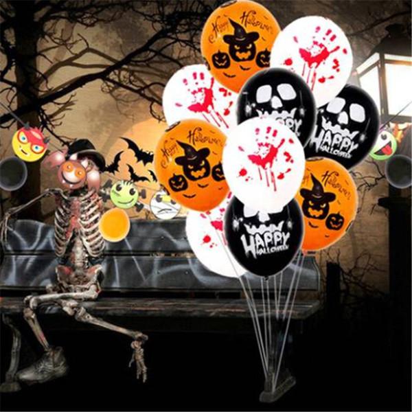 50PCs Halloween Props Free shipping Wholesales Latex Balloon Skeleton Blood Hand Latex Balloon Home Decor