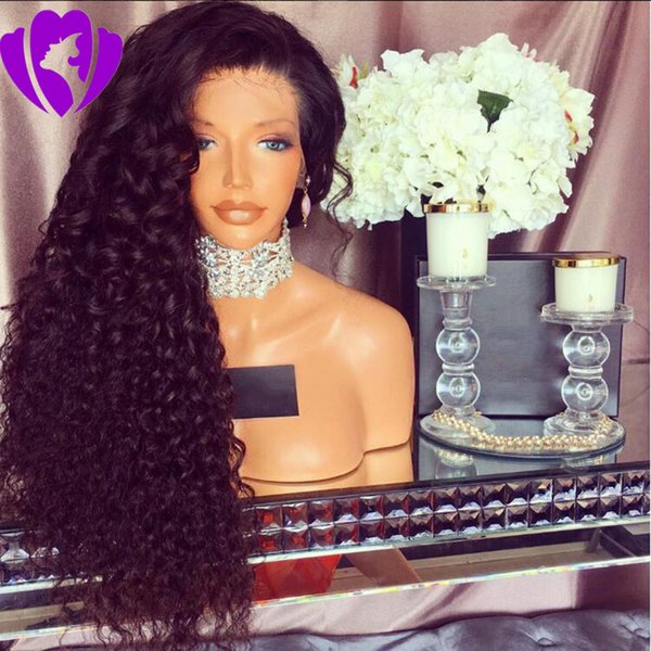 10-30inches Long Synthetic lace front Wigs For Black Women kinky Curly Natural Black/Red/brown /blonde/burgundy color Wigs Heat Resistant