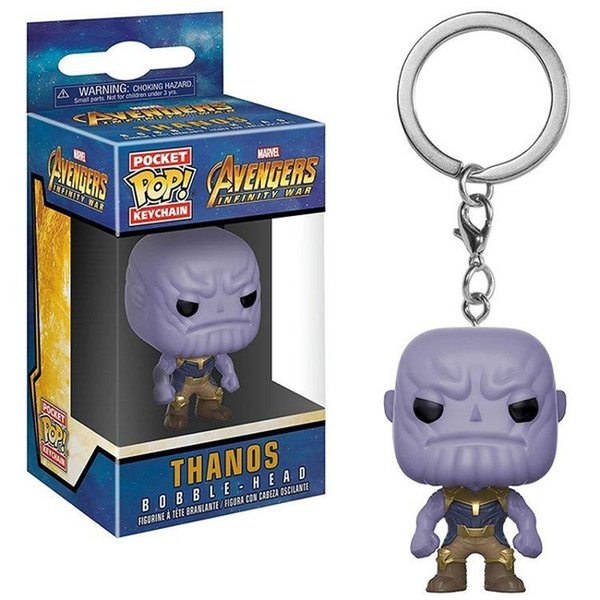 Marvel Avengers Infinity War Thanos & Hulkbuster Hulk KEYCHAIN Figure Collection Key Chain Toys with Retail Box