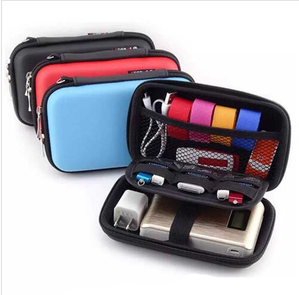 Portable Phone Charger External Battery Pack Earphone Tidy Bag Weatherproof Pouch Universal Travel Case for Power Bank Smartphone Free