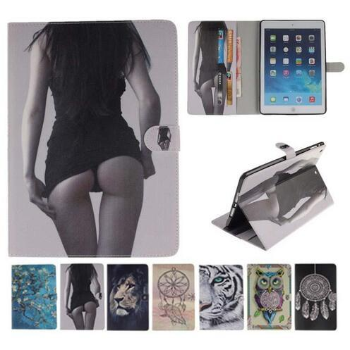 Sexy Tiger Lion Owl Smart Stand Flip Wallet PU Leather Case For ipad 234 5 6 Pro 9.7 Mini 123 4 Samsung T280 T350 T550 T580