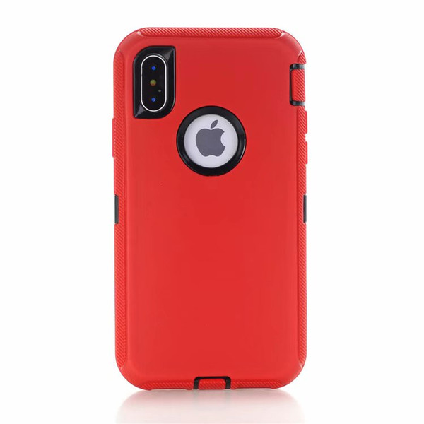 Top Quality Hybrid Defender Case for Apple iPhone X XS XR XS Max Shockproof Cases Dual Layer Cover, DHL Free Shipping