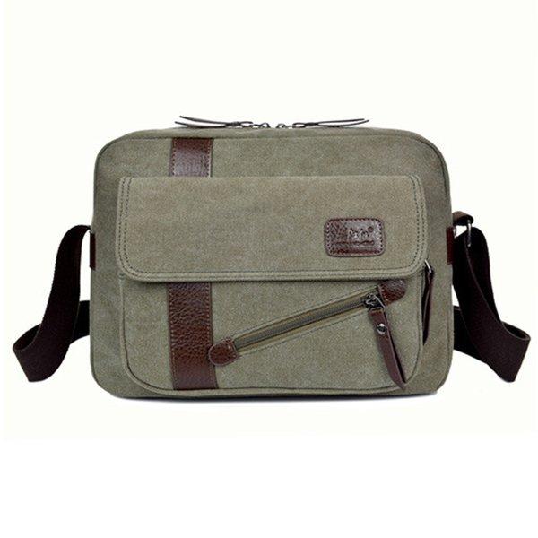 2018 High Quality Hot Sale Men's Fashion Business Travel Shoulder Bags Canvas Briefcase Men Bag Men Messenger Bags