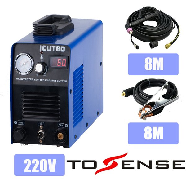 2019 220v Single Phase Plasma Cutting Machine Icut60 For Family Diy With 8m Torch And 8m Clamp Consumables Icut60 4 From Tosense 552 77