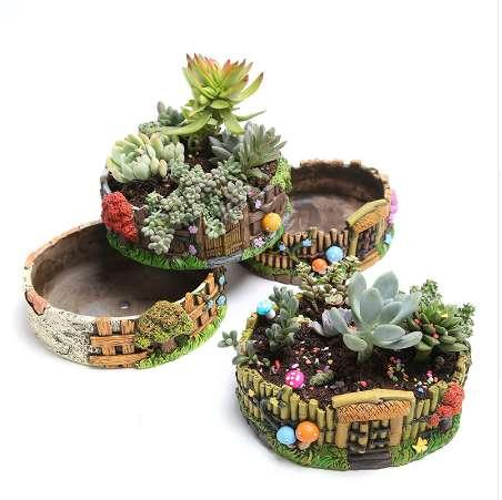 factory price cement flower pots big size garden pots for succulent plants