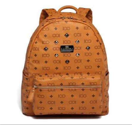best selling 2016 Vintage Women Backpack Pu Leather School Bag For Teenagers Punk Rivet Female Travel Bags Black Bolsos Mujer