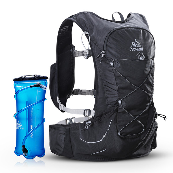 AONIJIE Running Bags Water Pack Vest Hydration Vest Marathon Hydration Backpack with Blanket Whistle Extra 3L Water Bladder
