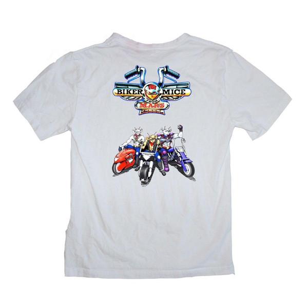 Biker Mice from Mars TV show motor bike 90's Cartoon Shirt S-XXXL colour print Mens Hipster Short Sleeve Tee Tops Men Lastest