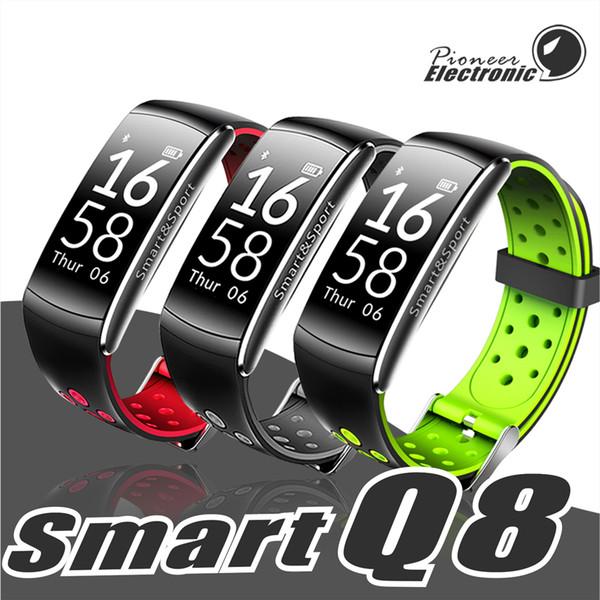 Q8 Fitness Tracker Smart Watch Blutdruck Herzfrequenz Schlaf Kamera Fern Sauerstoff Monitor Smart Armband Armband für Andriod und ios