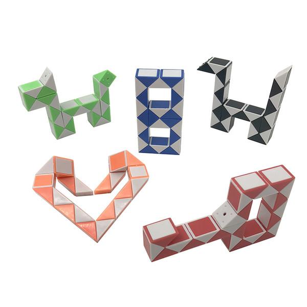24 Parágrafo Criativo Magia Cobra Forma Toy Game 3D Enigma Cube Torção Enigma Variedade Brinquedo Mágico Presente