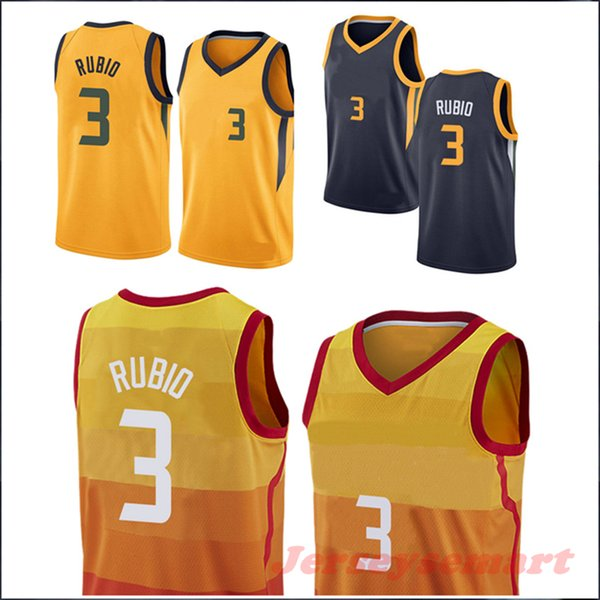 the latest 03ef6 a83cf 2019 Superior Quality Men'S Basketball Jerseys #3 Ricky Rubio City Edition  & Yellow & Dark Blue & White Shirt Mens Jerseys S M L XL From Jerseysemart,  ...