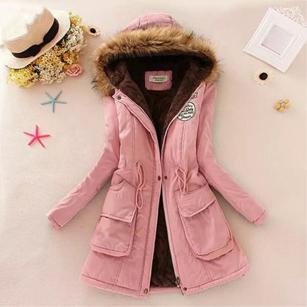 top popular Women Winter Jacket Warm Faux Fur Hooded Causal Long Sleeve Coat Plus Size S18101201 2019