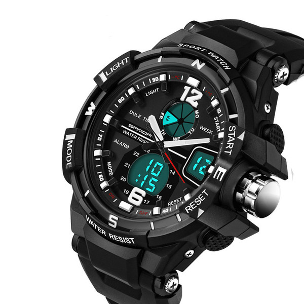 Electronic LED Quartz Watch Men Boy Children Waterproof Shockproof Sport Watch Rubber Wristband Gift Relogio Digital