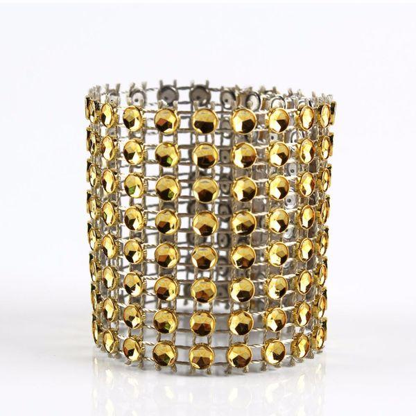 10Pcs Diamond Napkin Rings for Wedding Napkin Holders Rhinestone Chair Sashes Banquet Dinner Christmas Table Decoration