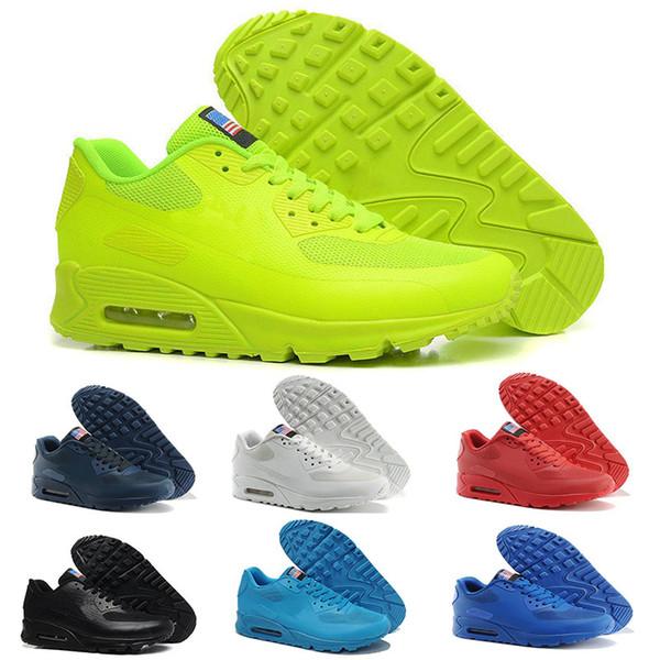 Acquista Nike Air Max 90 90s Airmax Scarpe Argento Nero