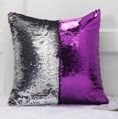 DIY sirène paillettes housse de coussin jeté magique taie d'oreiller couleur changeante taie d'oreiller réversible pour la décoration intérieure 40X40cm livraison gratuite