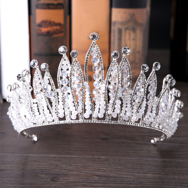 2019 New Bridal Headwear Beautiful Baroque Crown Bride Tiaras Crown Handmade Bridal Hair Accessories Headband Wedding Accessories Wholesale