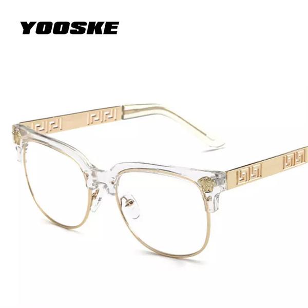 044b1b367d clear frame prescription glasses Coupons - YOOSKE Fashion Clear Sunglasses  Women Men Optics Prescription Spectacles Frames