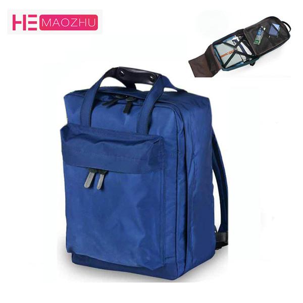 HEMAOZHU Nylon saco de Duffle Homens Viagem pequenos sacos dobrável Backpack Big Capacidade Weekend Bag Feminino embalagem Cubos Viagem mochila