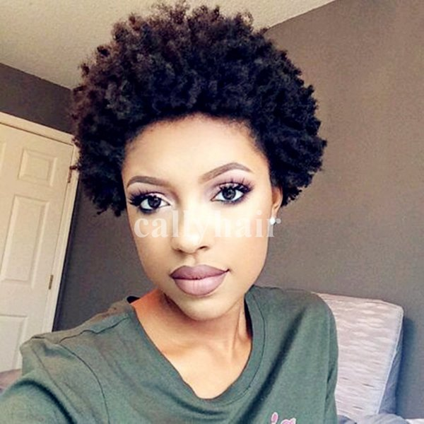 Cheap short hair wigs Glueless Full Lace Human Hair Wigs For Black Women afro kinky curly Virgin Indian human Hair Lace Front Wigs