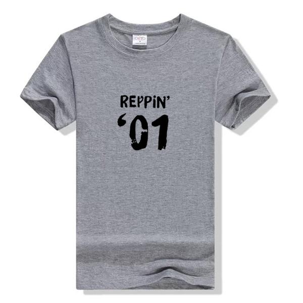 Tee-shirt femme 2001 17e anniversaire tee t-shirt Reppin 01 lettre impression pour garçon fille étudiant tshirt coton drôle femmes lâche t shirt