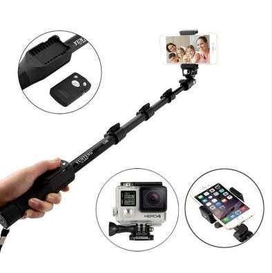 Yegeng extensível yegeng 1288 bluetooth vara selfie monopé tripé para iphone 7 6 6 s plus xiaomi samsung câmera do telefone yt-1288