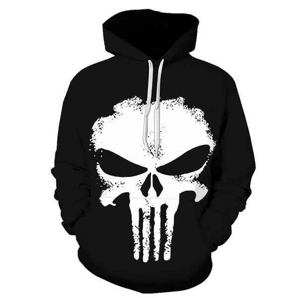 Art Skull Hoodies Men Women 2017 New Fashion Autumn Winter Sportswear Tracksuit Brand Hooded Sweatshirt Dropship