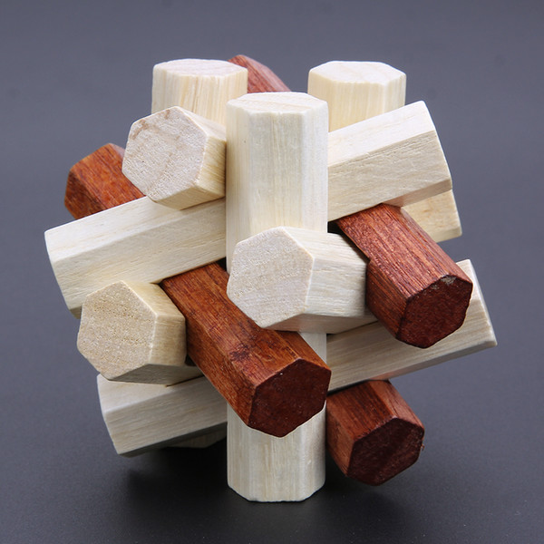 best selling Kongming Luban Lock Chinese Traditional Toy 3D Wooden Puzzles Adult Kids Brain Teaser Intellectual Toys Gift
