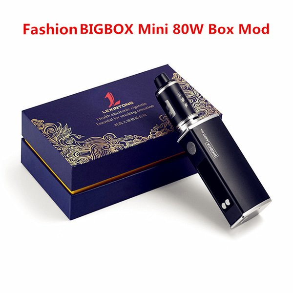 Fashion BIGBOX Mini 80W Vape Mods Starter Kits With Led Dispaly Screen New Arrival Big Vapor 2200mah Battery Vape Pen Box Mod Ecig