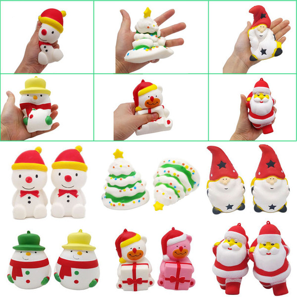 Acquista Kawaii Squishy Toys Regali Di Natale Cute Squishies Albero Di Natale Regalo Di Babbo Natale Orso Pupazzo Di Neve Decorazioni Natalizie