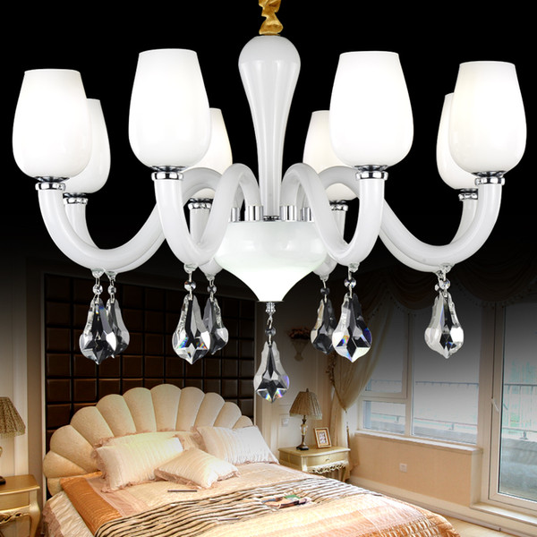 Longree Wholesale Hot Selling New Model Glass Candle Chandelier LED Cheap Crystal Pendant Light for home deco