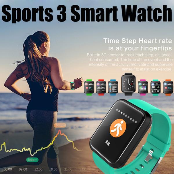 Sports 3 Smart Watch Heart Rate Waterproof Bracelet Passometer Touch smartwatch Activity Tracker
