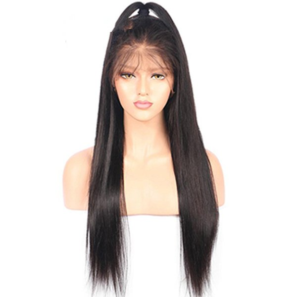 straight synthetic hair lace front wig free part actural picture cheap wigs for women perucas baby hair off black FZP25
