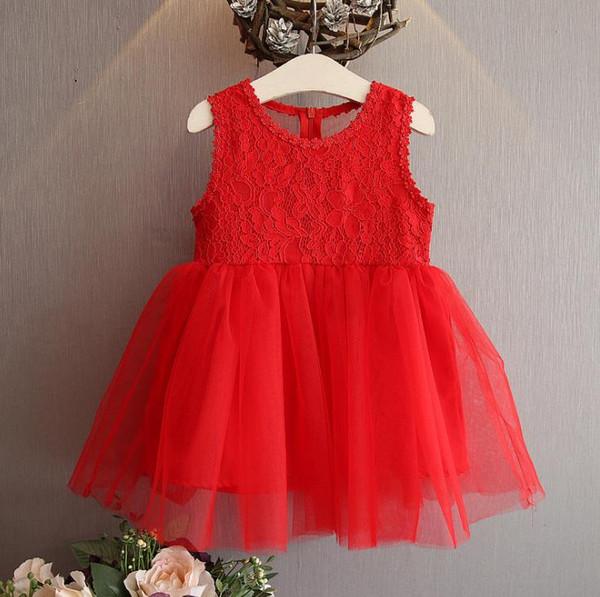 2018 NEW Rainbow dress Hot selling summer princess fairy dress baby kids sleeveless stereo flower mesh lace patchowrk girl Dresses