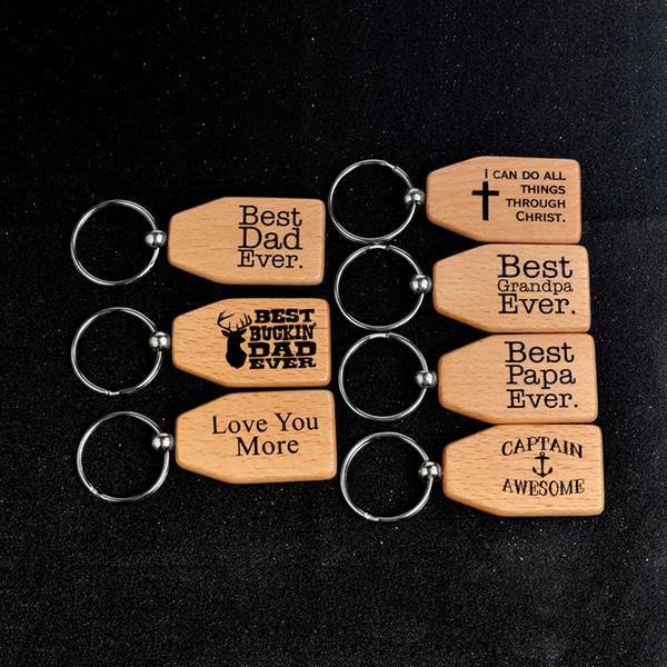 Portachiavi in legno Miglior papà Miglior papà Miglior nonno Ti amo mai Portachiavi in legno Portachiavi Anello Portachiavi Gioielli membri della famiglia 340030