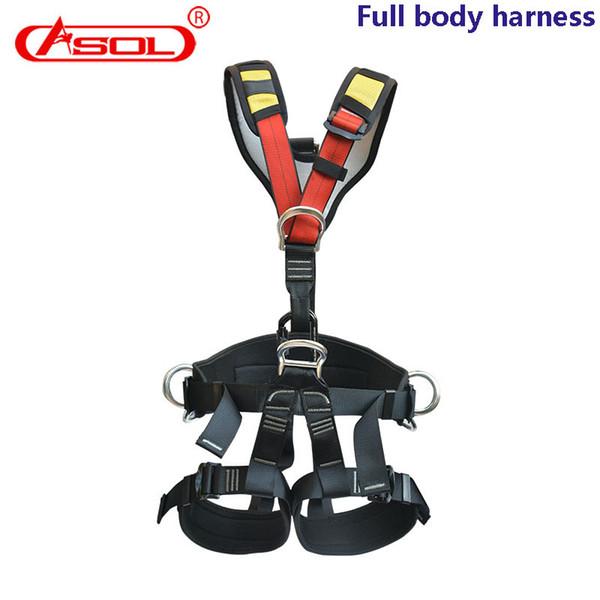 Equipo profesional para exteriores de gran altura Asol Cinturón de seguridad de cuerpo completo Arnés de escalada Caída del equipo de protección Arnés