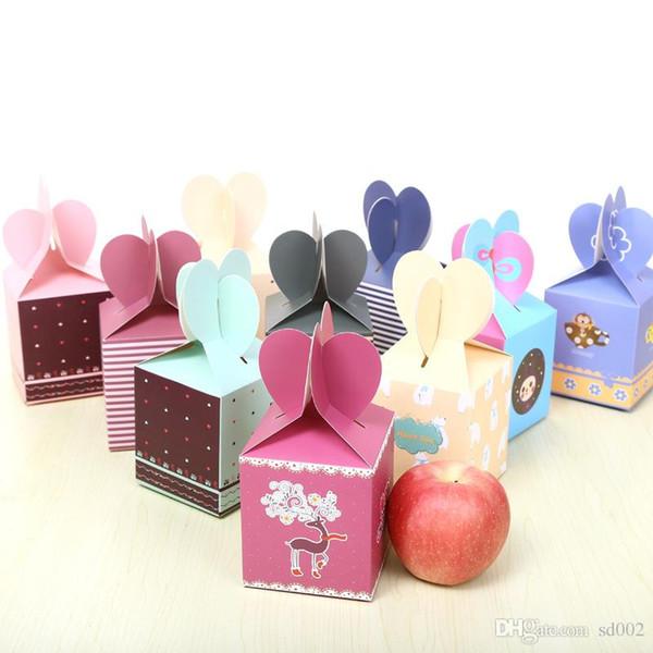 Streifen-Druck-Geschenkpapier-Kasten-Weihnachtsabendäpfel-Verpacken-Süßigkeits-Kästen für Feiertags-Party Supplie Hochzeits-Geschenk 0 59jc ii