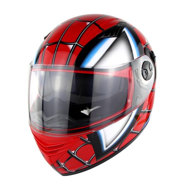 Racing Iron-Man Helmets Full Face Motorcycle Helmet Spider Men Double Lens Casco Motorbike Casque Nenki 830