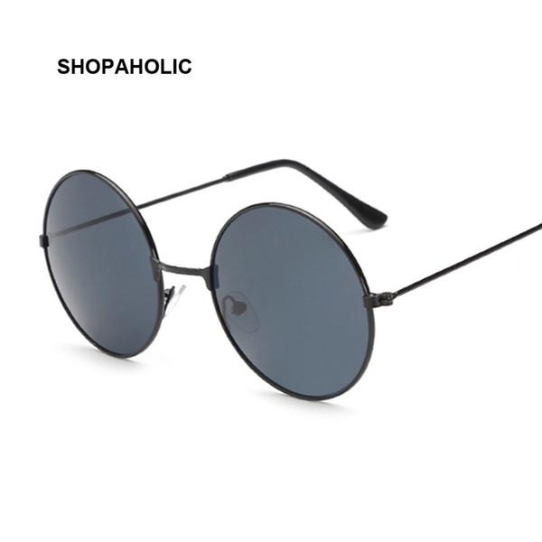 New Women Men Round Sunglasses Red Yellow Blue Clear Shades MultiColor Gradient Mirror Female Male Designer Vintage Sun Glasses