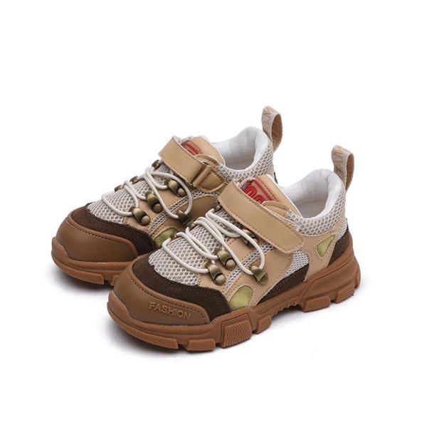 Erkek basketbol ayakkabı erkek tasarımcı ayakkabı çocuklar atletik moda sneakers kahverengi siyah renk Ucuz fiyat kız tenis rahat ayakkabı AB 26-37