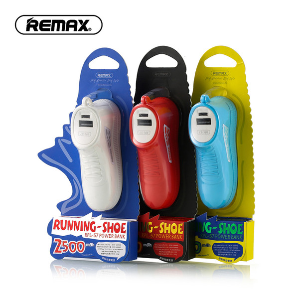 REMAX Mini Power Bank 2500mAh Dual USB Portable Charger Silicone Cute Shoes External Battery Pack Power Bank for Mobile Phone