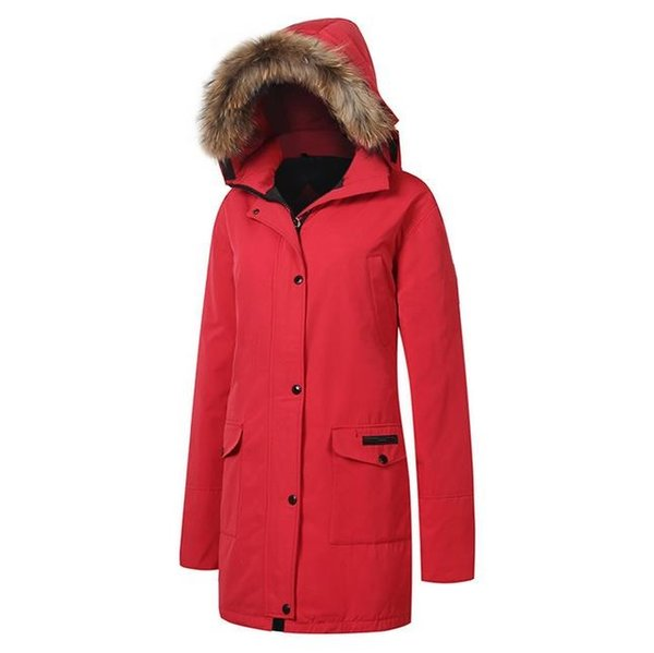 Outdoor winter jacket women coat goose down jacket with fur hood female ultralight coat for camping hiking