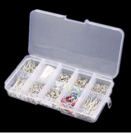 610pcs/Box Jewelry Starter Making Tool Kit Head Pins Chain Beads Open Jump Rings Handmade DIY Accessories For Necklaces Earrings