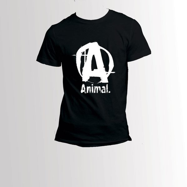 Animal Universal Nutrition Iconic Black T-Shirt 100% Baumwolle Humor Männer Rundhals T-Shirts