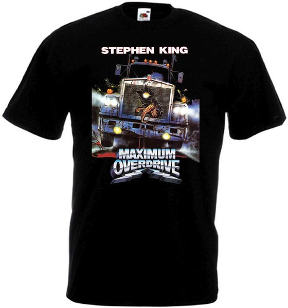Create T Shirt Maximum Overdrive V1 T-Shirt Black Movie Poster All Sizes S To 3XL O-Neck Men Short Graphic T Shirts