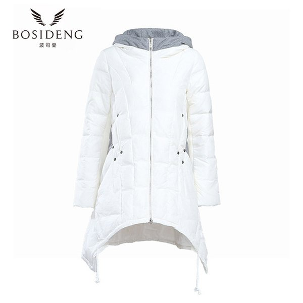 6561e30fbc bosideng women's winter coat winter down jacket thick hooded dovetail with  pleated bottom long jacket clearance
