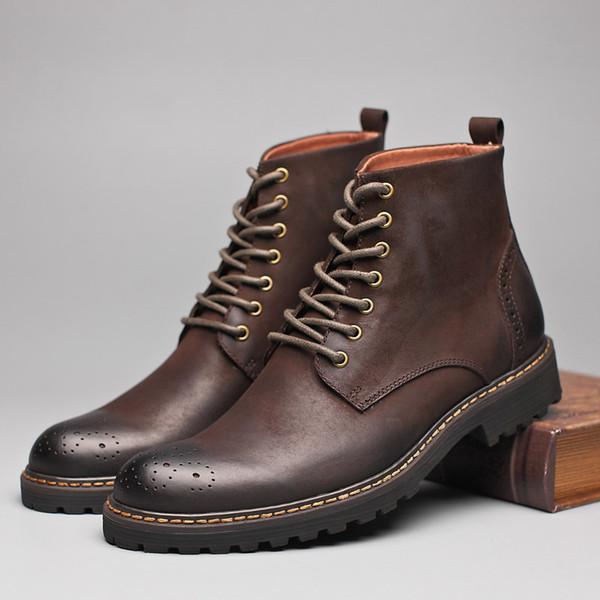 Acheter En Chaussures Hiver Bottes Rétro Véritable Cuir Men'szipper Livraison Britannique Homme Botte Bottes Automne Style Martin Chaud Mâle Hommes oerQxCBWd